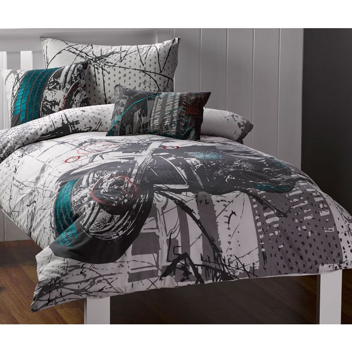Harley Quilt Cover Set Motorcycle, Harley Davidson Queen Size Bed Sheets