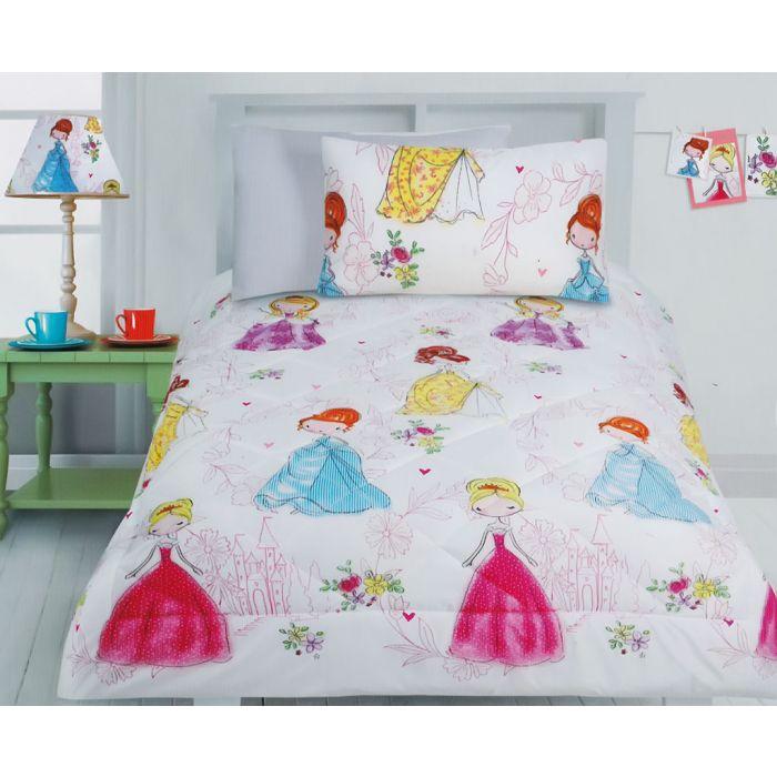 Princess Girls Comforter Set - Princess Bedding - Kids ...
