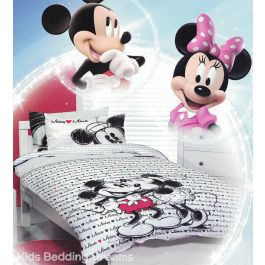 Mickey Loves Minnie Quilt Cover Set Mickey Mouse Bedding