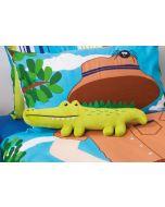 Croc Hunter Crocodile Cushion
