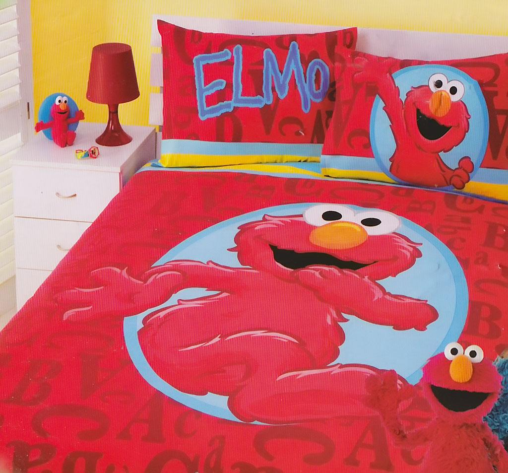 Elmo Red Quilt Cover Set
