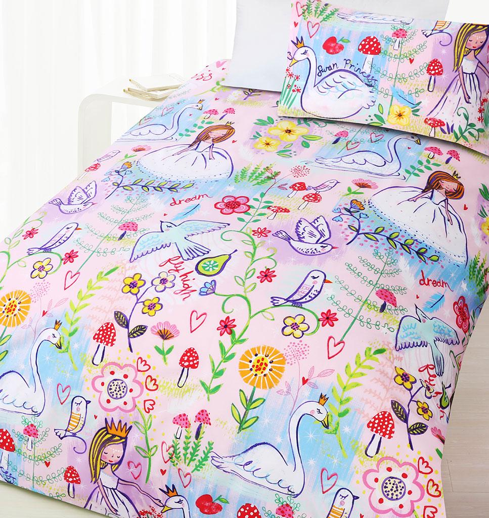 Swan Princess Quilt Cover Set