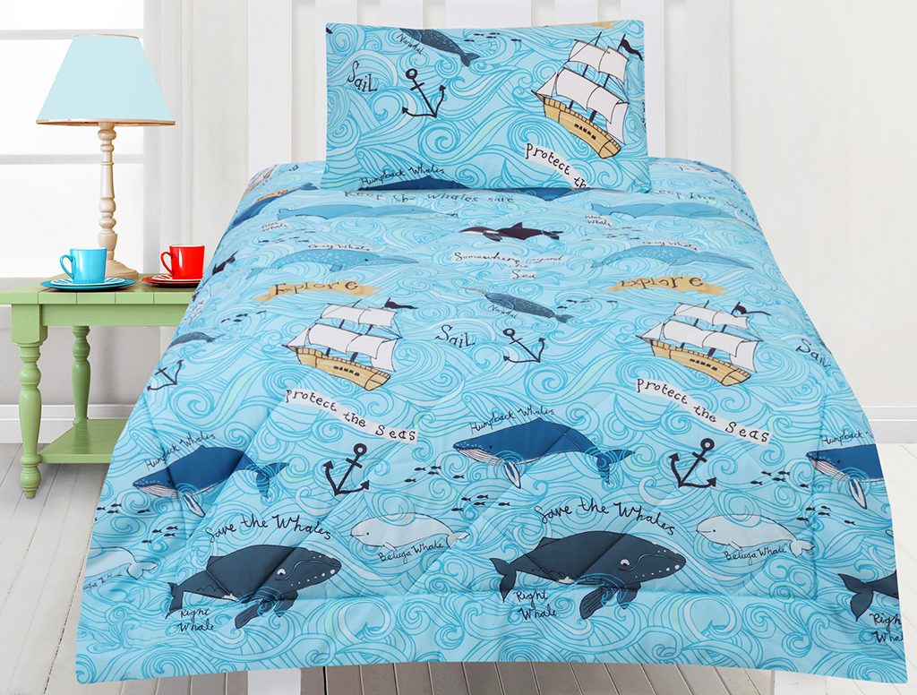 Whales Comforter Set